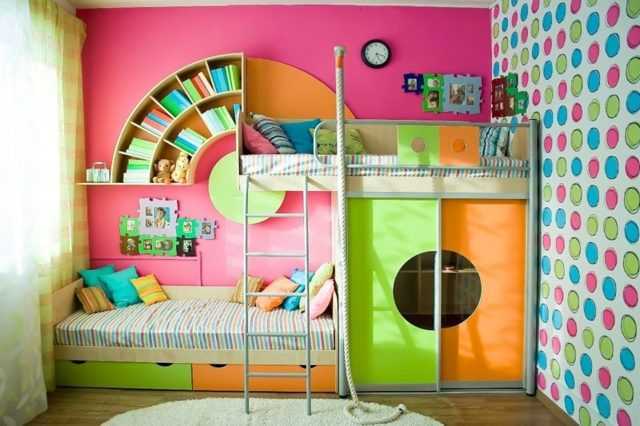 Выбор двухъярусной кровати: подобрать стиль и цветовую гамму
