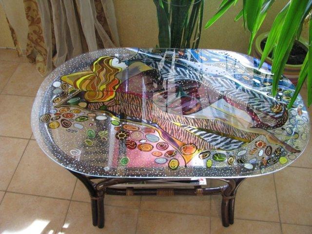 Декупаж кухонного стола своими руками: инструкция и инструменты