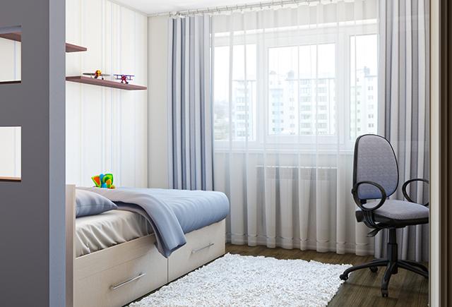 Какой длины должны быть шторы в гостиной, спальне и на кухне, фото