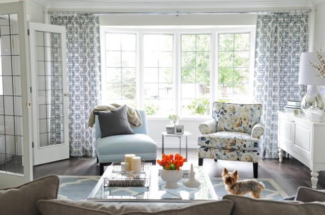 Дизайн штор для зала: современный стиль, новинки, портьеры и гардины