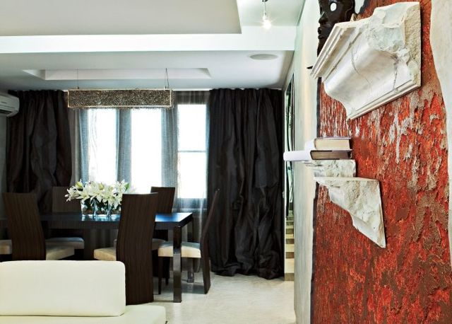 Черные шторы: примеры и фото в интерьере гостиной, спальни, зала и кухни
