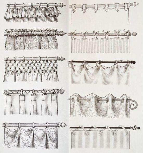 Крепления для штор: виды крепежа к карнизу, доступные варианты, описание