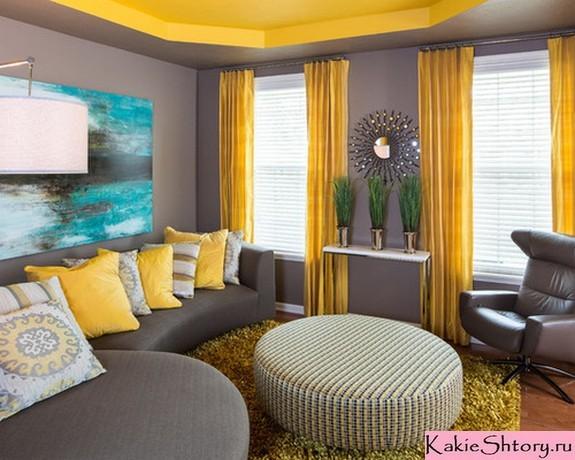 Какие шторы подойдут к серым обоям с рисунком: сочетание, фото в интерьере