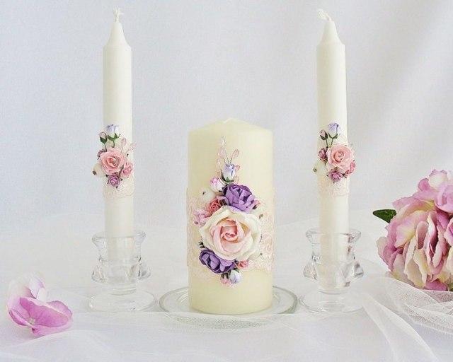 Декор свечей на свадьбу своими руками: как украсить свадебные элементы?