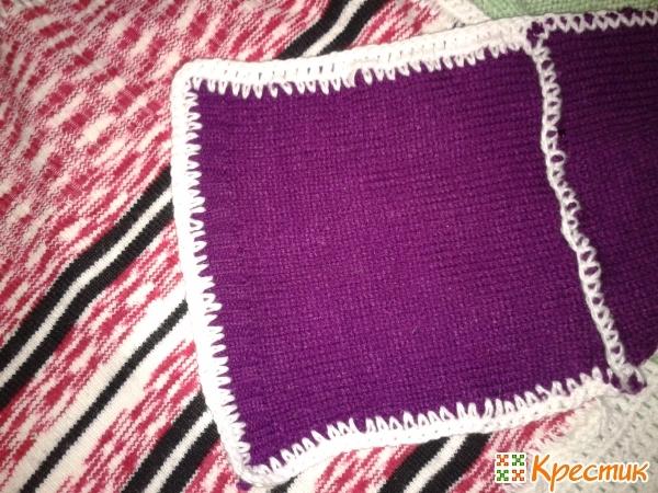 Плед из старых свитеров: с декоративным швом, с обвязкой, пэчворк