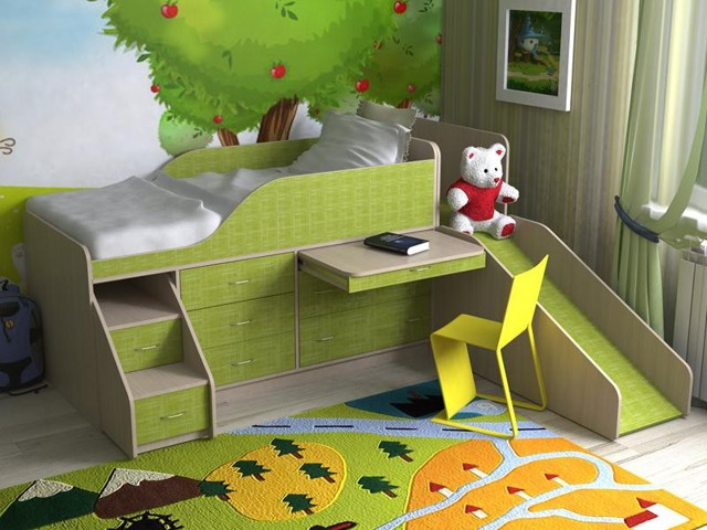 Кровать-чердак со шкафом: достоинства и недостатки моделей