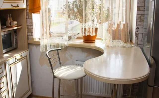Подоконник столешница на кухне. Изготовление своими руками.