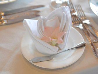 Как красиво сложить салфетки в салфетницу: сервировка