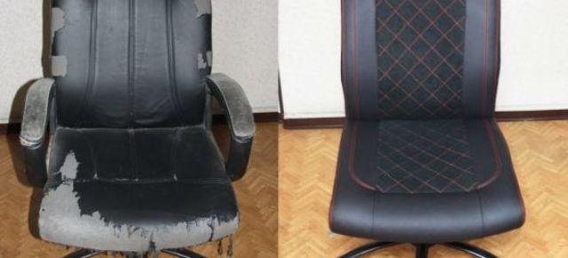 Как перетянуть и обновить компьютерное кресло своими руками
