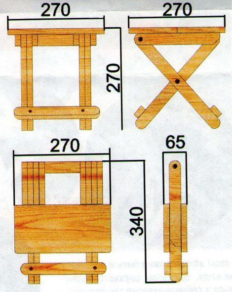 Складной стульчик своими руками: процесс изготовления и дизайн
