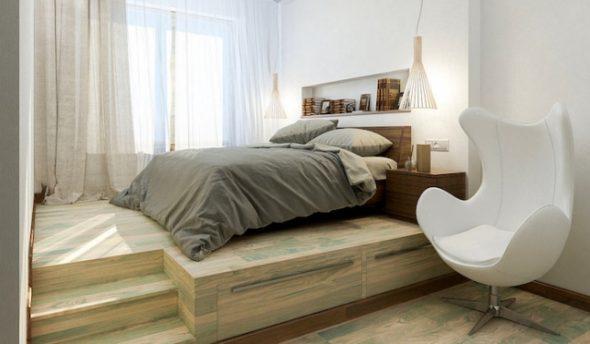 Кровать-подиум: плюсы и минусы их применения в интерьере