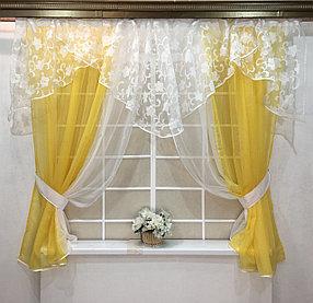 Готовые шторы для кухни: модели элитных занавесок с тюлью, комплекты, фото