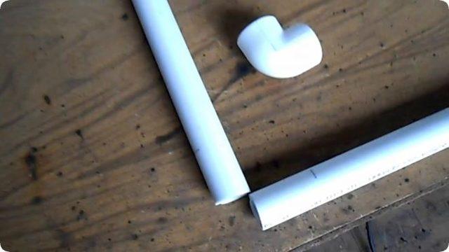 Делаем ширму из пластиковых труб для детского сада своими руками