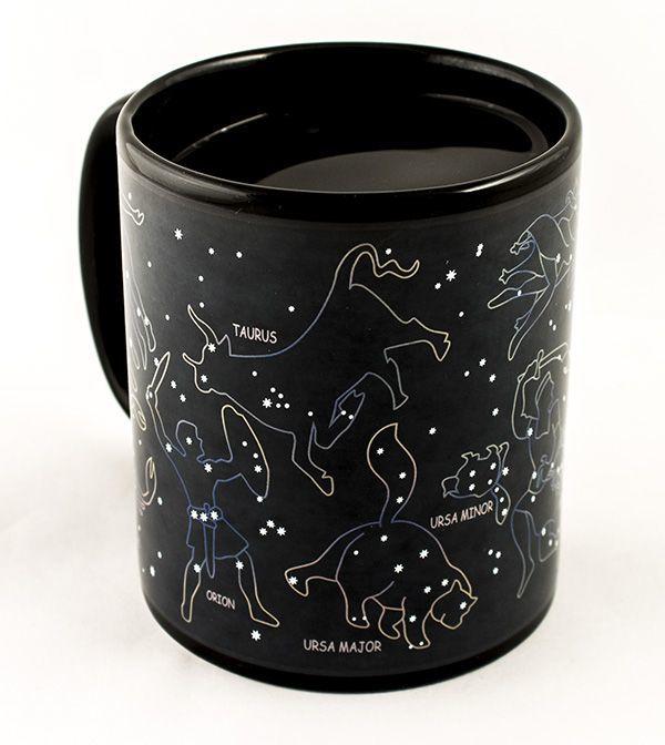 Кружка-хамелеон: что это такое, термочувствительная кружка синего и черного цвета, с изображением совы и звездного неба