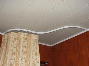 Круглый карниз для штор: как выглядит, полукруглый настенный для штор