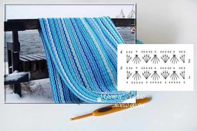 Цветочный плед из отдельных мотивов: инструкция с фото и видео