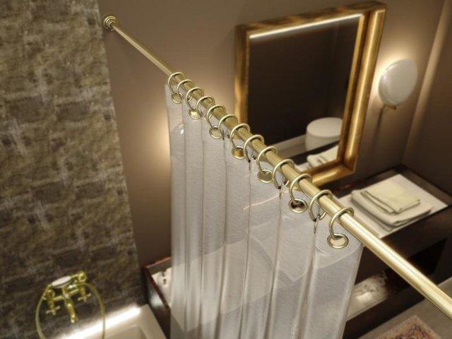 Штанги для шторы в ванную: телескопические, угловые, полукруглые