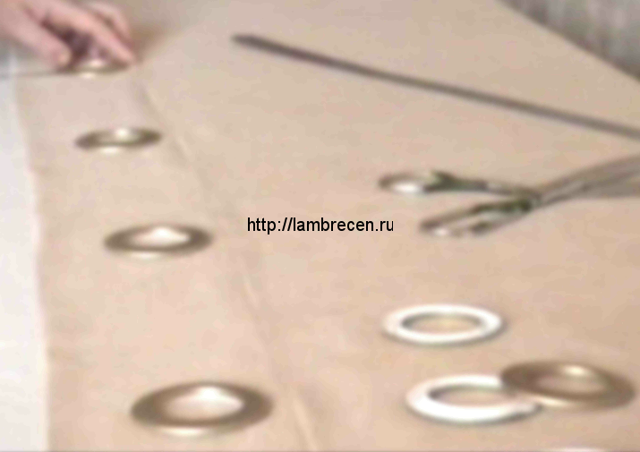 Как сшить шторы на люверсах: как пришить люверсную ленту своими руками