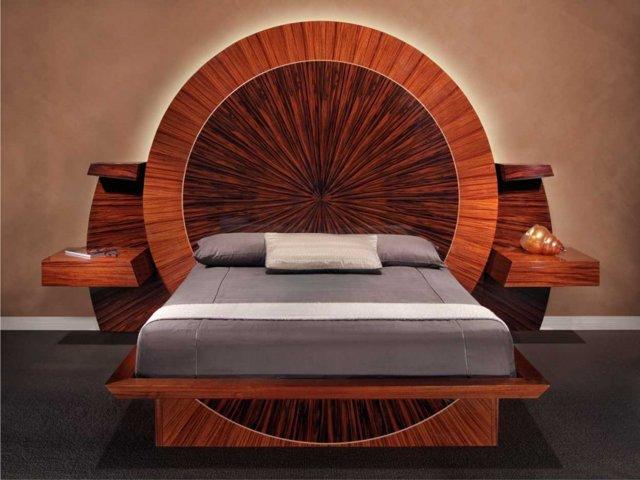 Оригинальные двуспальные кровати для современного интерьера