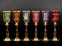 Фужеры «Богемия» из Чехии: бокалы для шампанского из богемского стекла, модель «Анжела», серия «crystal»