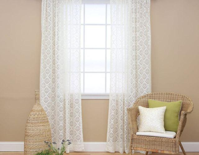 Тюль для гостиной: короткая, плотная, двойная, современный дизайн, фото