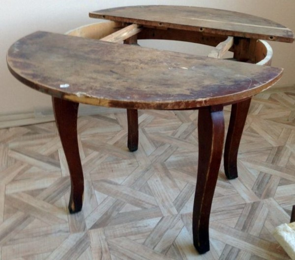 Делаем реставрацию стола своими руками