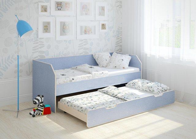 Выдвижные кровати для двоих детей. Особенности и фото интерьеров