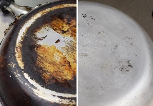 Как очистить сковороду от жира и нагара в домашних условиях: как почистить и отмыть кастрюлю и сковородку