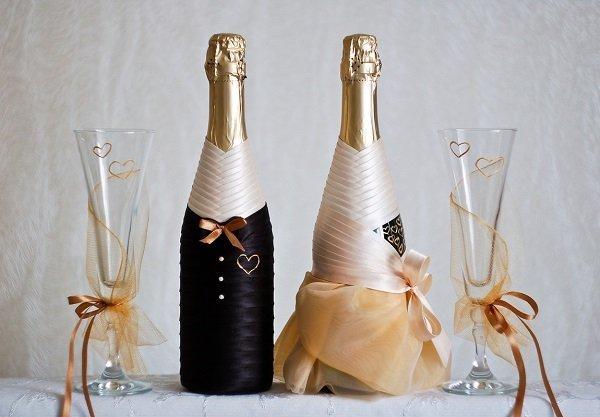 Декорирование фужеров для шампанского к Новому году: особенности, как украсить, варианты декора, альтернативные способы украшения