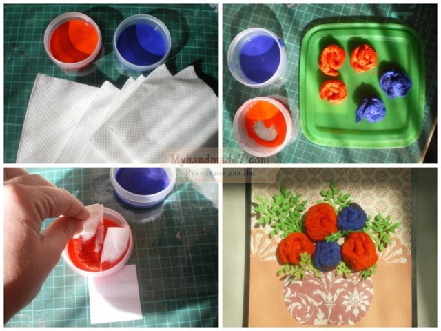 Аппликация из салфеток: пошаговая инструкция своими руками