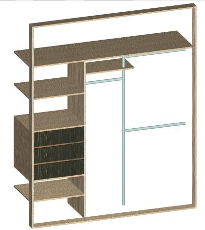 Планировка внутреннего пространства шкафа купе. Размеры, дизайн
