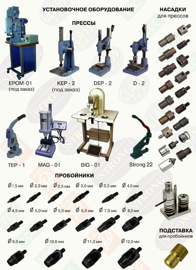 Пресс для люверсов универсальный: описание оборудования, принцип работы