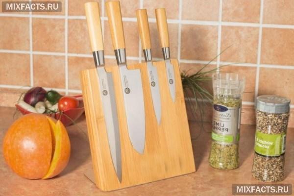 Подставка с наполнителем для ножей: особенности, виды наполнителей, материал корпуса, размеры, формы