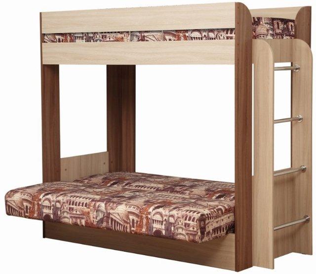 Двухъярусная кровать с диваном: преимущества и недостатки модели