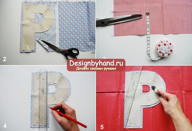 Как сшить мягкие буквы подушки своими руками: выкройки и инструкция