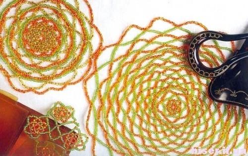 Салфетки из бисера: сложные схемы плетения красивых ажурных платков пошагово