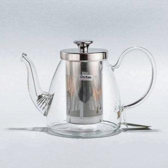 Заварочный чайник с кнопкой для слива заварки: стеклянный проливной Гунфу для заваривания чая