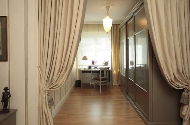 Шторы на дверной проем: оформление, шторы из бамбука, как сделать своими руками
