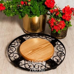 Подставка для цветов металлическая: оригинальная напольная опора для растений