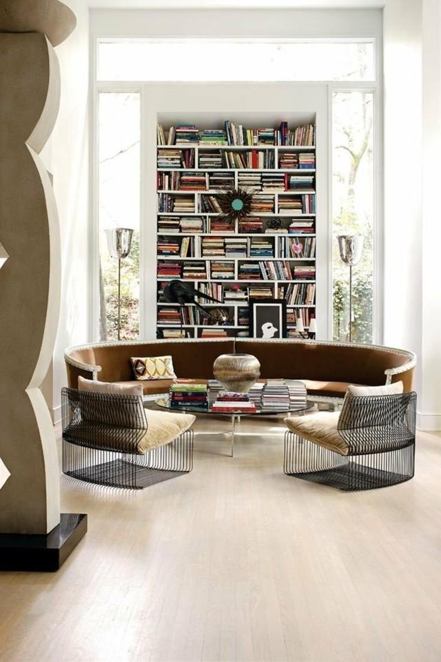 Круглый диван-кровать в интерьере: 75 лучших фото