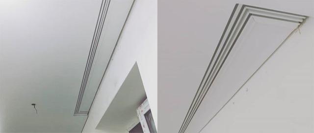 Ниша для штор в натяжном потолке: эффект парящей шторы, как сделать закладные