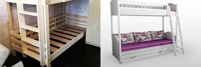 Двухъярусная кровать своими руками. Размеры, чертежи с фото.