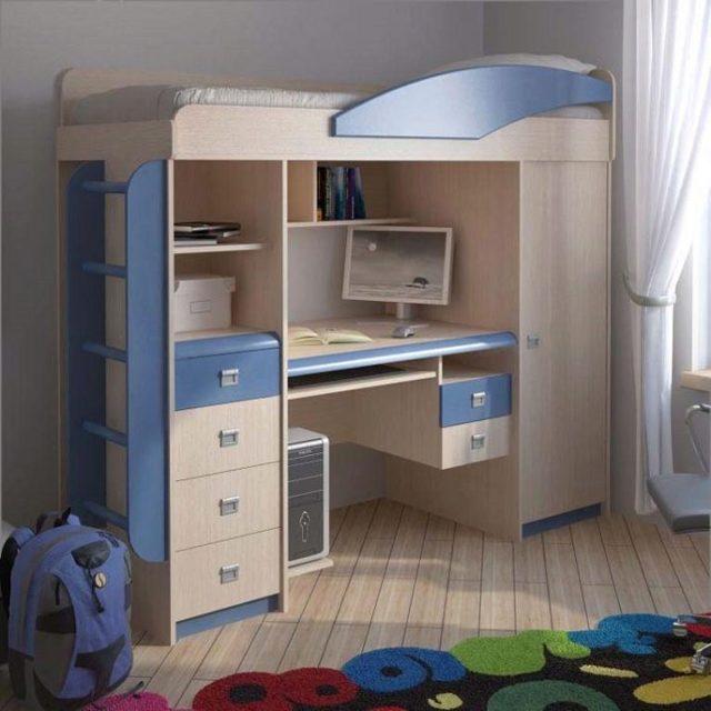 Детская кровать-чердак: современный дизайн компактности в комнаты