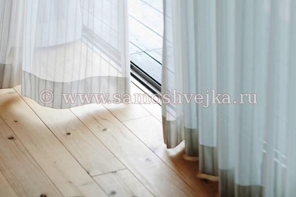 Как подшивают тюль снизу и по бокам: обрезка и обработка в домашних условиях