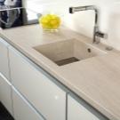 Кухонная столешница из керамогранита. Изготовление, дизайн, фото