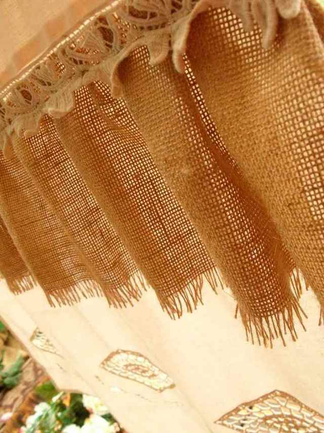 Шторы из мешковины: ткань рогожка, описание, оттенки и как пошить своими руками