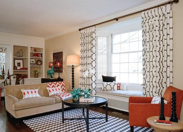 Красивые занавески в гостиную в современном стиле: примеры и фото в интерьере