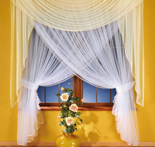 Шторы из органзы: фото занавесок в интерьере зала и кухни, комбинированные