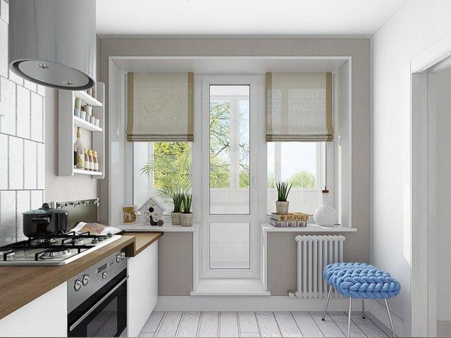 Шторы на панорамные окна: примеры оформления окон в квартире, на балконе