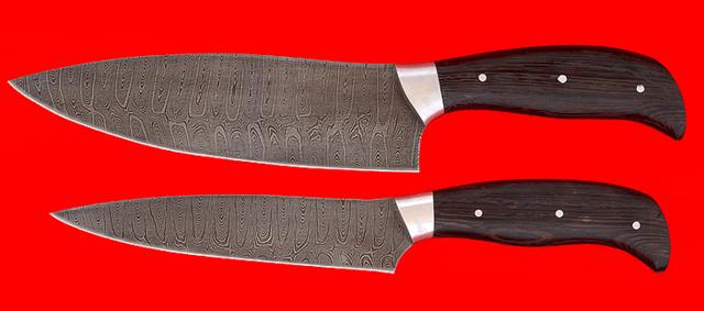 Дамасские кухонные ножи: плюсы и минусы, виды, набор, популярные модели